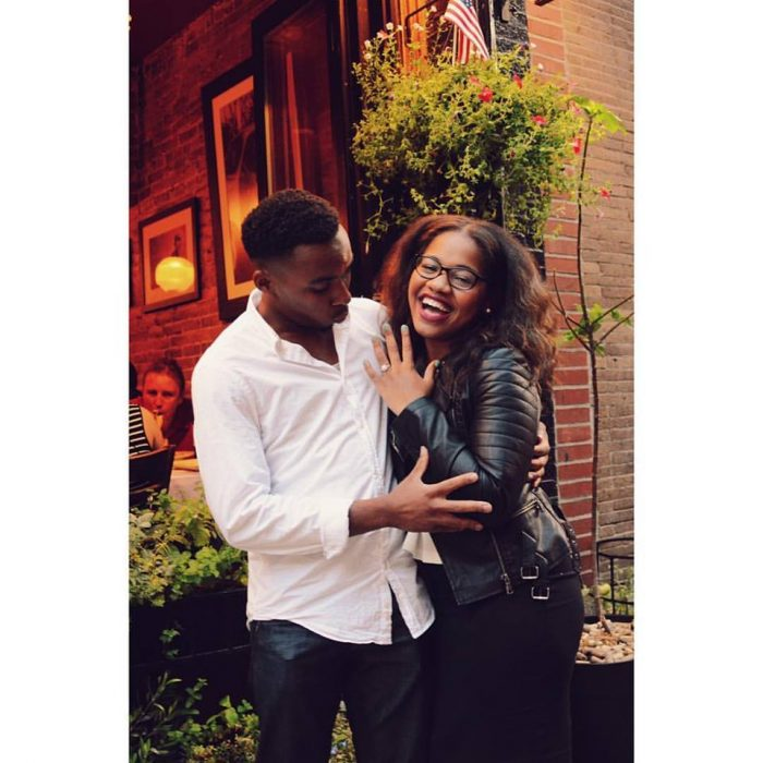 Courtney and Terrel's Engagement in Trattoria di Monica