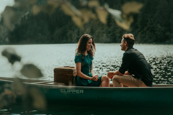 Mountain Lake Canoe Proposal - Tailored Fit Photography-0005