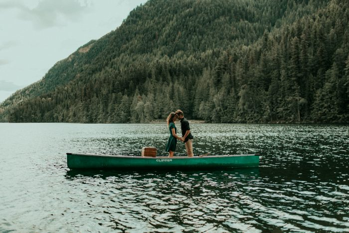 Mountain Lake Canoe Proposal - Tailored Fit Photography-0011