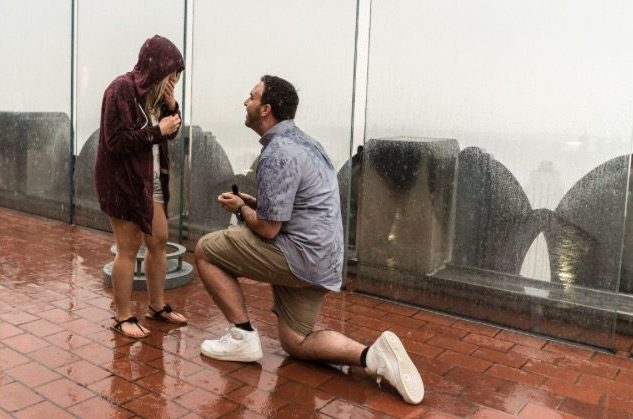 Where to Propose in Top of the Rock in NYC