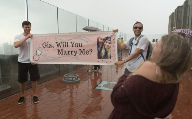 Wedding Proposal Ideas in Top of the Rock in NYC