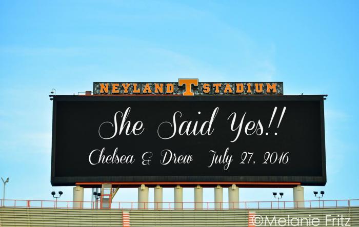 Chelsea and Drew's Engagement in Neyland stadium