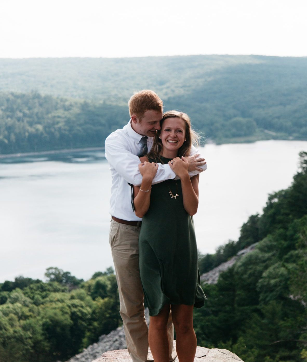 Hannah and Jonathan's Engagement in Devil's Lake State Park, WI