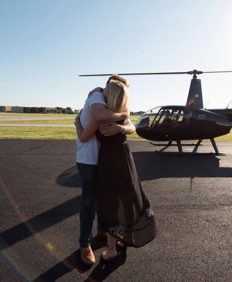 Laura's Proposal in Addison Airport