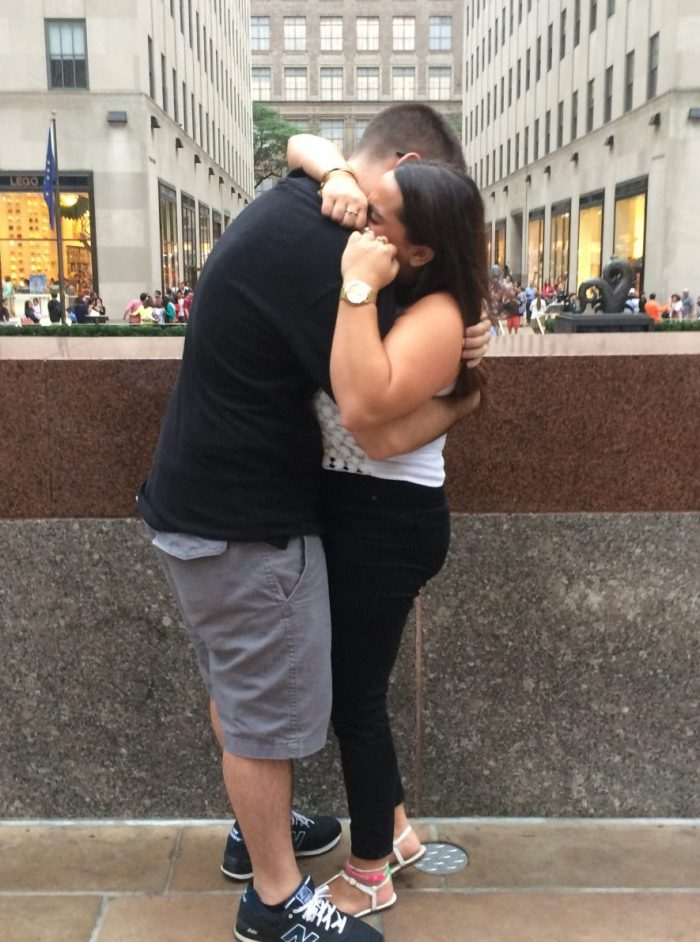 Jessica's Proposal in Rockefeller Center. NY NY