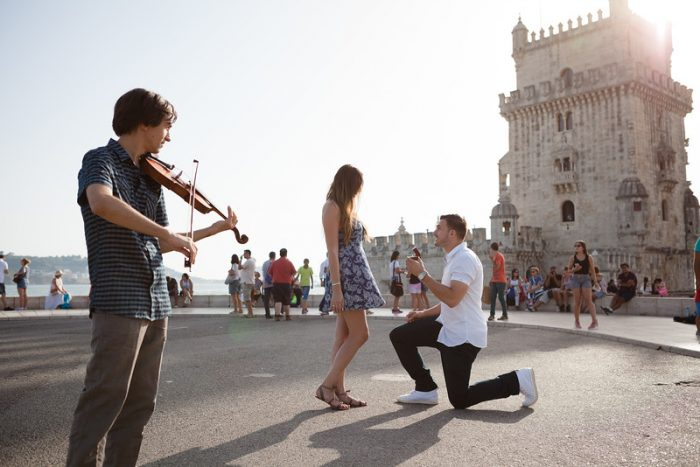 Marriage Proposal in Lisbon, Portugal