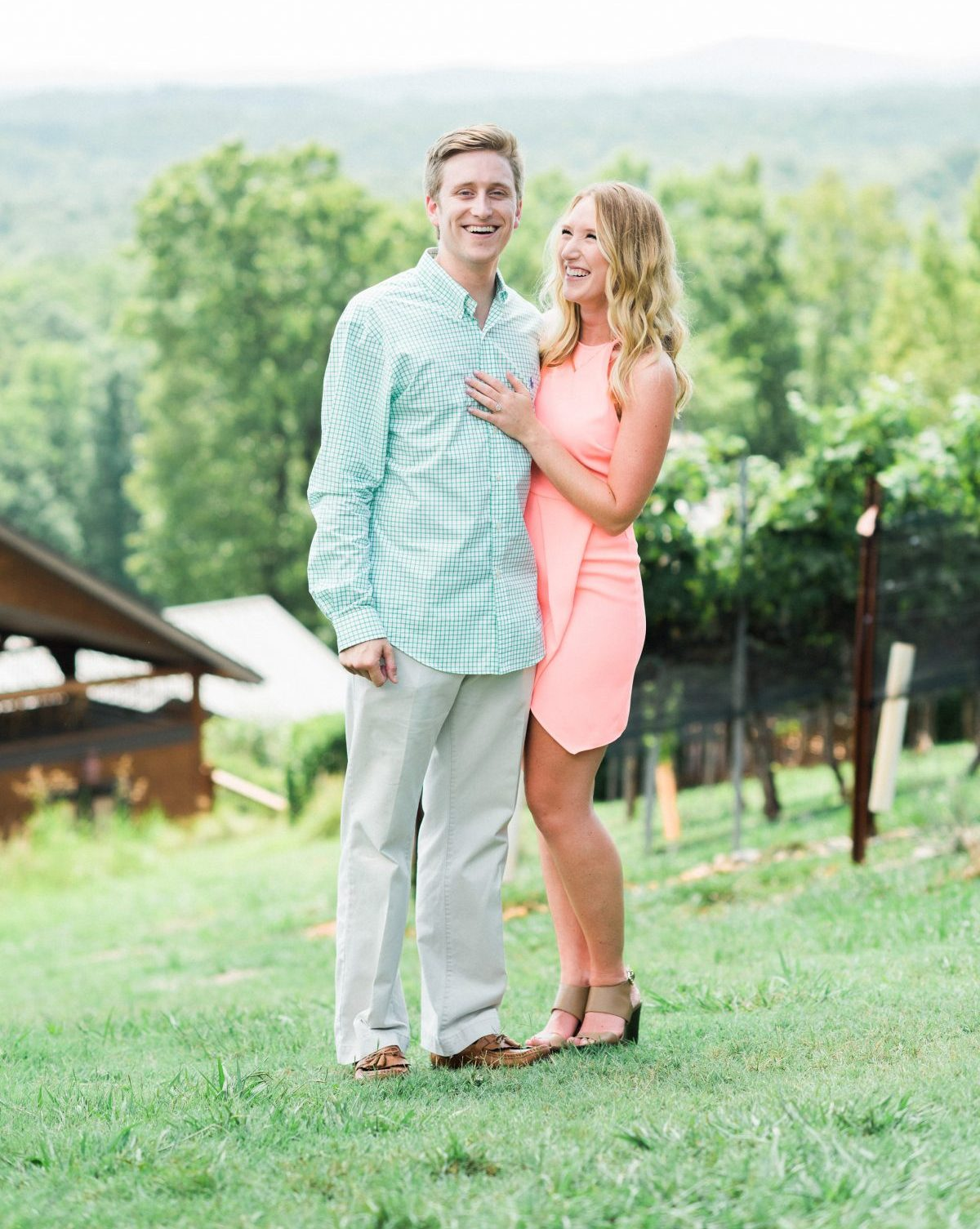 Meghan and Rich's Engagement in Wolf Mountain Winery / Dahlonega, GA
