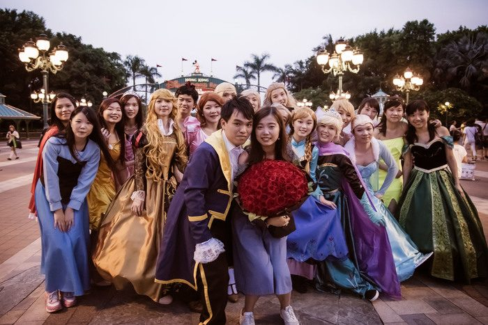 Marriage Proposal at Disneyland Hong Kong
