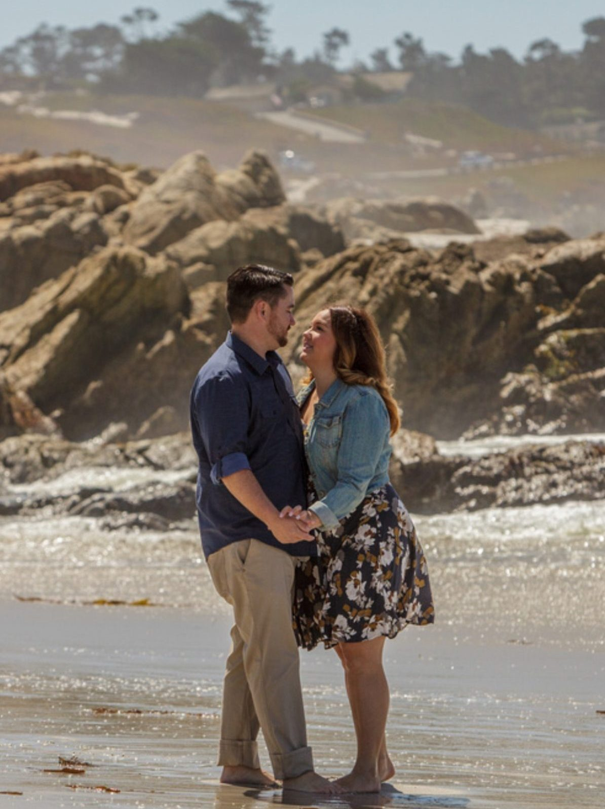 Monica and Devin's Engagement in Seal Rock Cove, Carmel CA