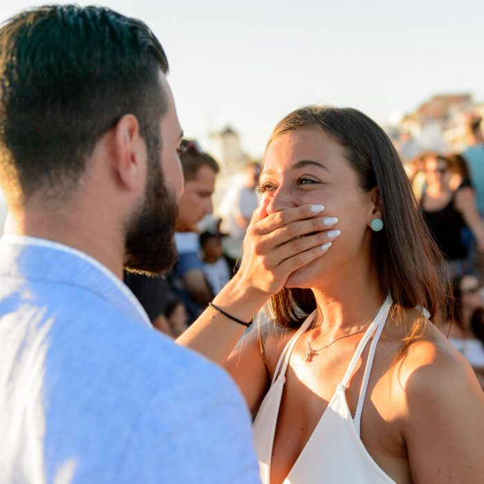 Wedding proposal NYC-Santorini