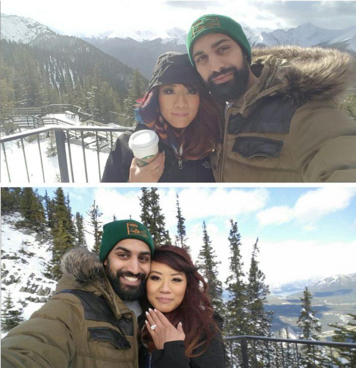 Sarah and Karam's Engagement in Banff, Alberta