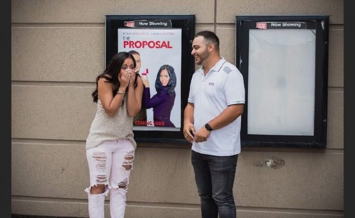 Lana and Ryan's Engagement in AMC Theatres (Vaughan, Ontario)