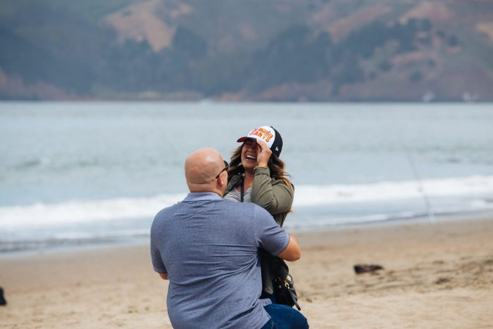 Marriage Proposal at Baker Beach, San Francisco, CA