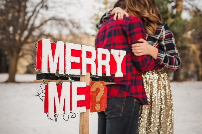 Image 4 of 11 Proposals to Get You Excited for This Year's Holiday (aka Engagement) Season
