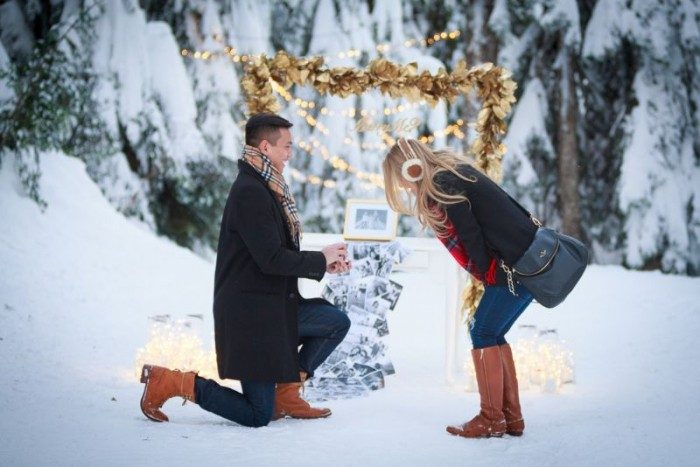 Image 5 of 11 Proposals to Get You Excited for This Year's Holiday (aka Engagement) Season