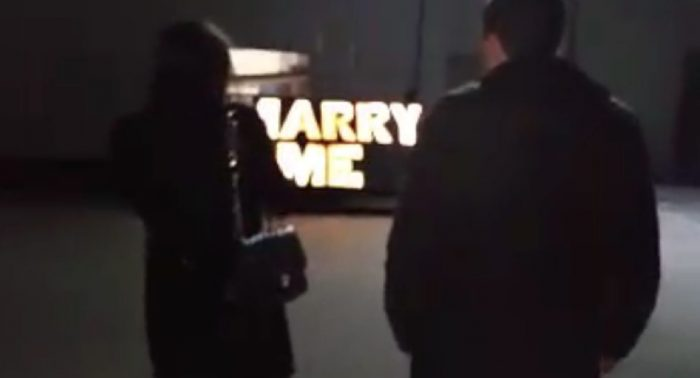 Nicole's Proposal in Westchester Airport when landing after helicopter tour