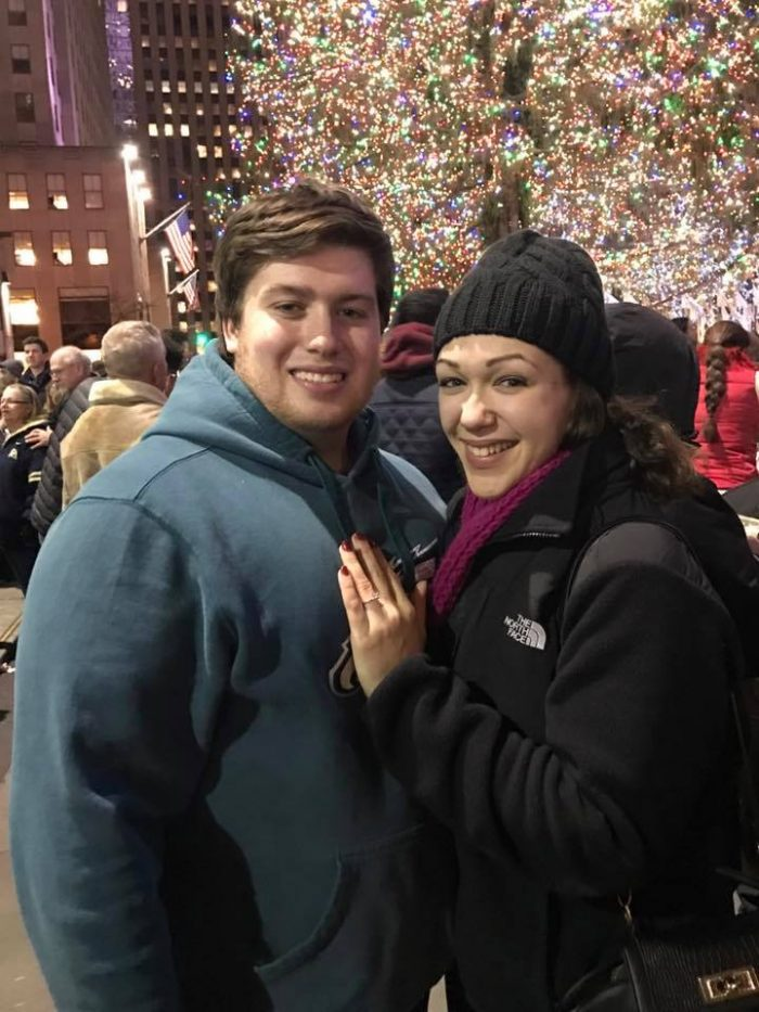 Engagement Proposal Ideas in Rockefeller Center Christmas Tree, New York City