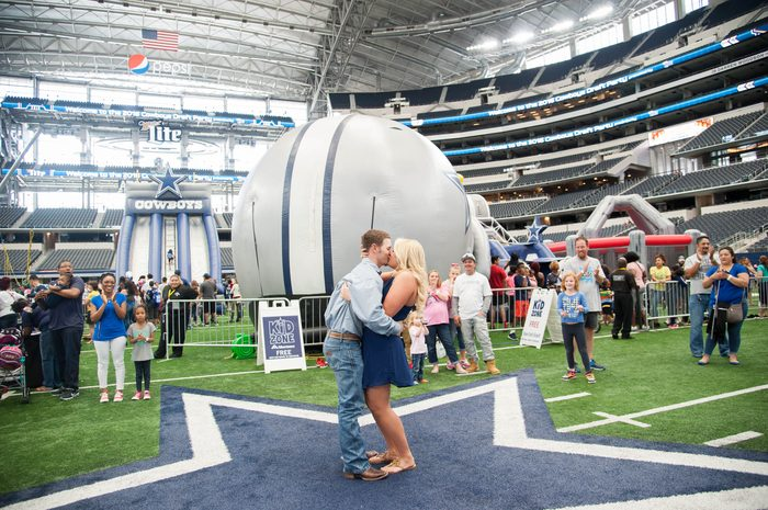Image 6 of Chelsea and Seth's Proposal at the Dallas Cowboys Stadium
