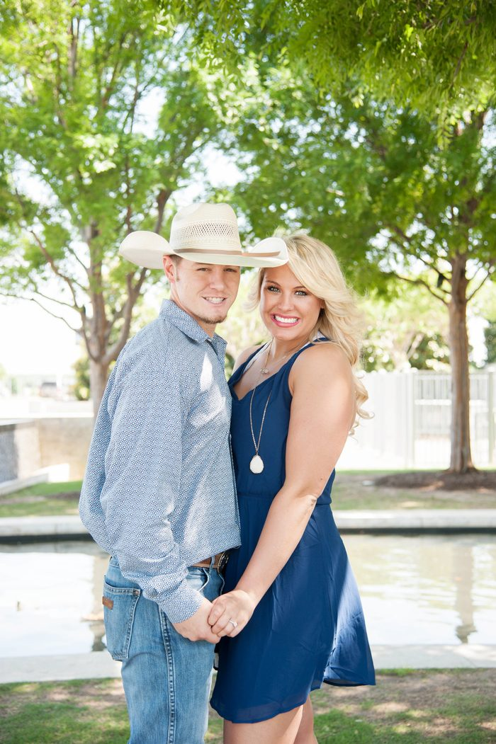 Image 1 of Chelsea and Seth's Proposal at the Dallas Cowboys Stadium