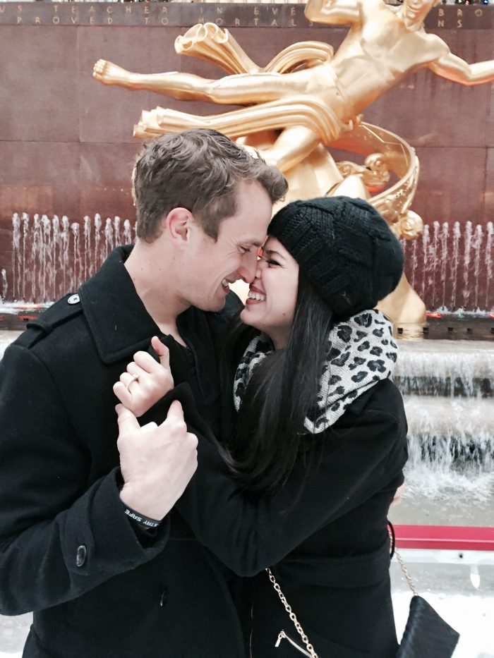 Angela and Brent's Engagement in Rockefeller Center in New York City