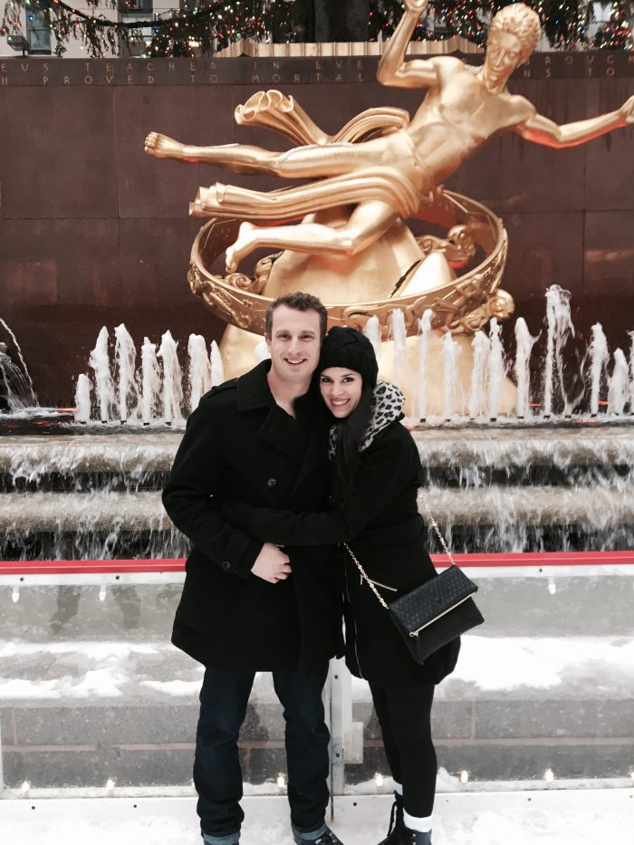 Angela's Proposal in Rockefeller Center in New York City