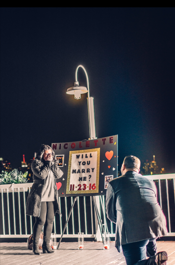 Nicolette's Proposal in Pier 115