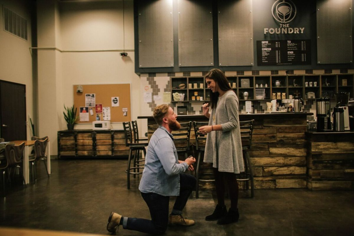 Wedding Proposal Ideas in The Foundry Coffeehouse - Tyler, TX