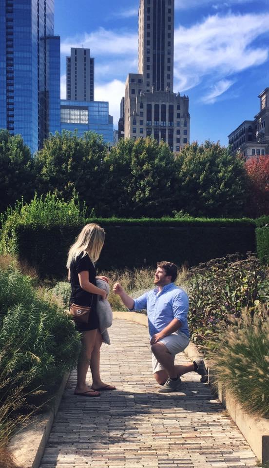 Wedding Proposal Ideas in Millenium Park, Chicago, Illinois