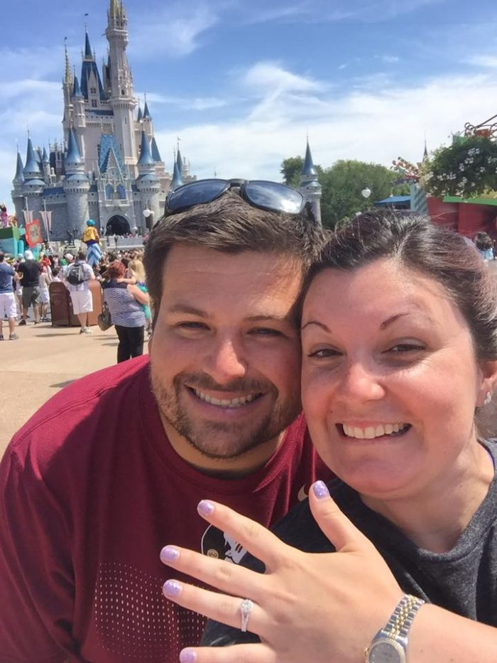 Whitney's Proposal in Magic Kingdom, Walt Disney World