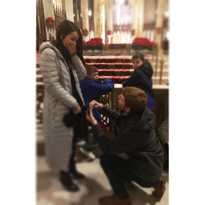 Emily's Proposal in St. Patrick's Cathedral, New York City