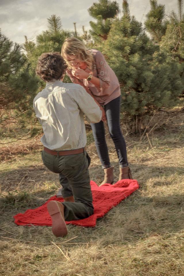 Wedding Proposal Ideas in Shelbyville Christmas Tree Farm
