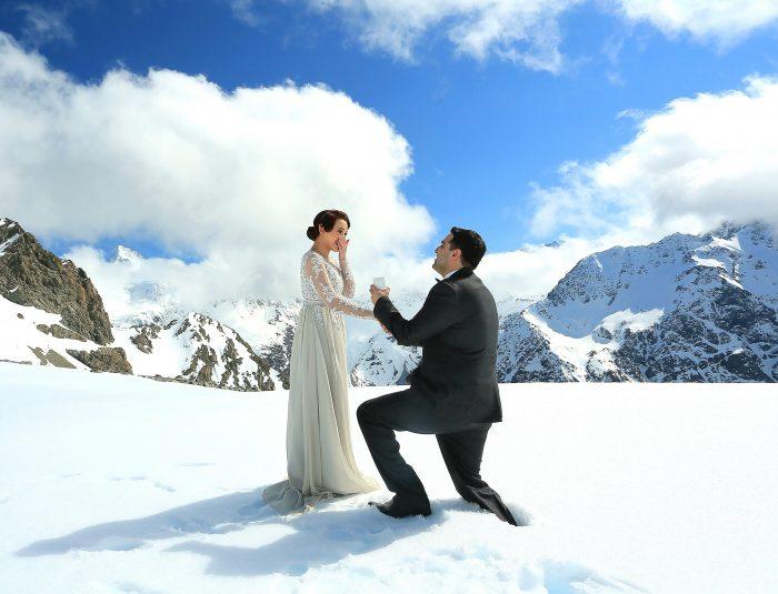 Vanessa and Kal's Engagement in Aoraki/Mount Cook National Park, Christchurch, New Zealand