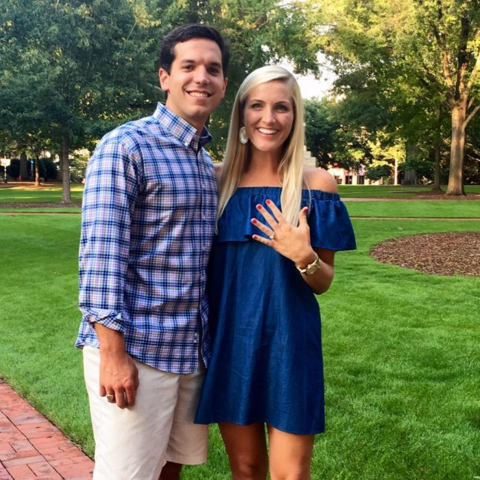 Engagement Proposal Ideas in The Horseshoe on University of South Carolina's campus