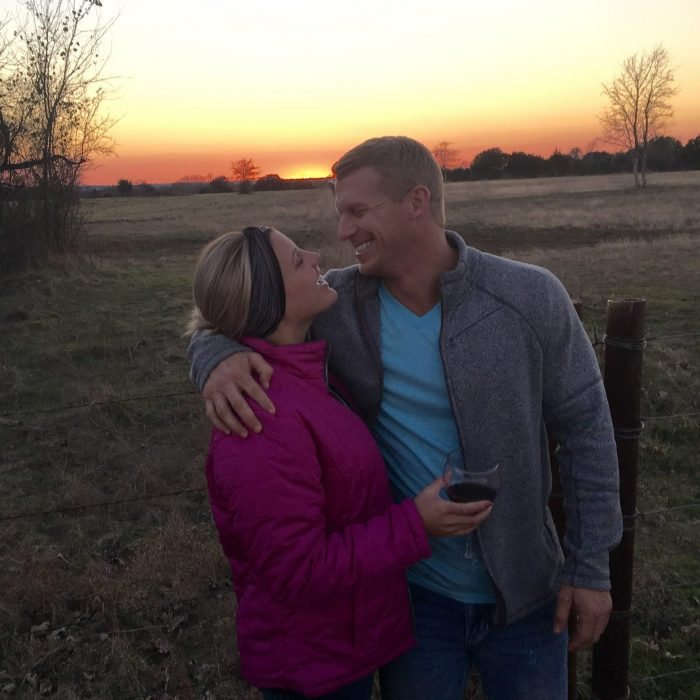 Allyson and Garrett's Engagement in Family Ranch in Oakwood Texas