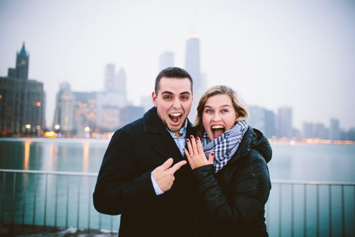 Jordan and Jack's Engagement in Olive Park, downtown Chicago