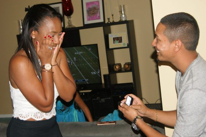 Krystella's Proposal in At a family members house