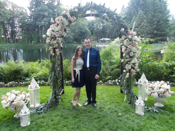 Lesya's Proposal in Cousin's backyard forest