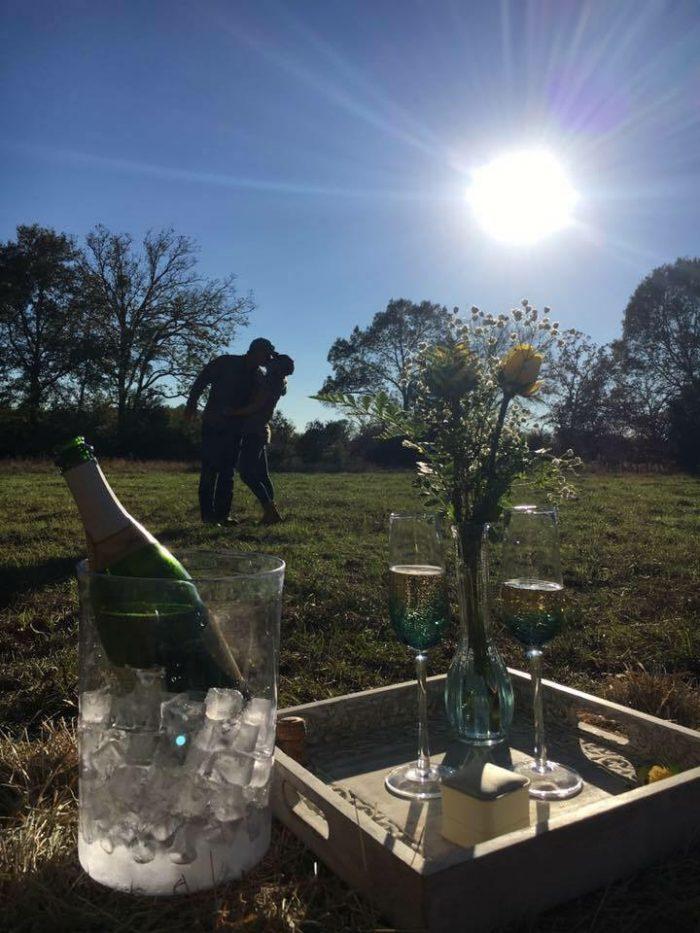 Allyson's Proposal in Family Ranch in Oakwood Texas