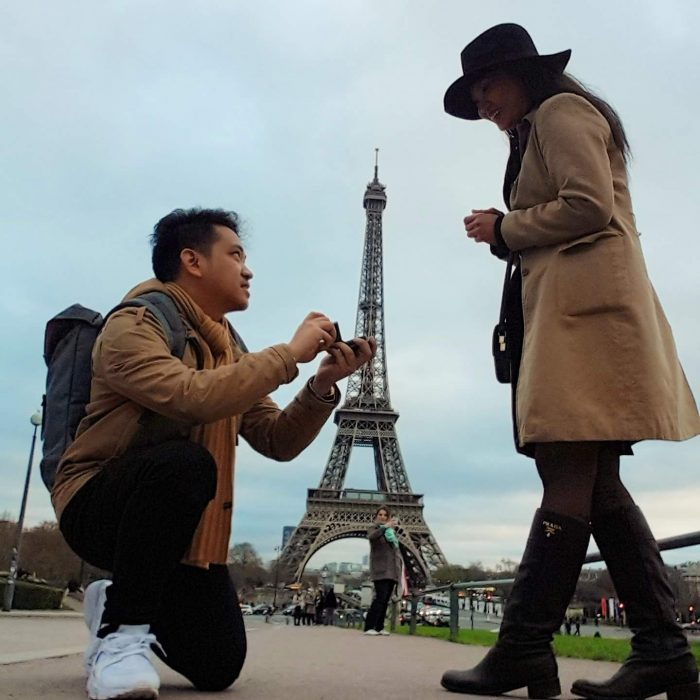 Maria Karla and Jan Paulo's Engagement in Eiffel tower paris, france