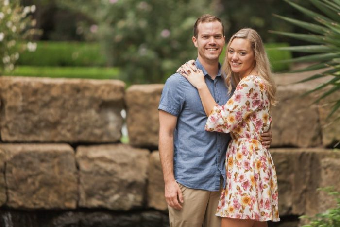 Erika and Blake's Engagement in The Dallas Arboretum