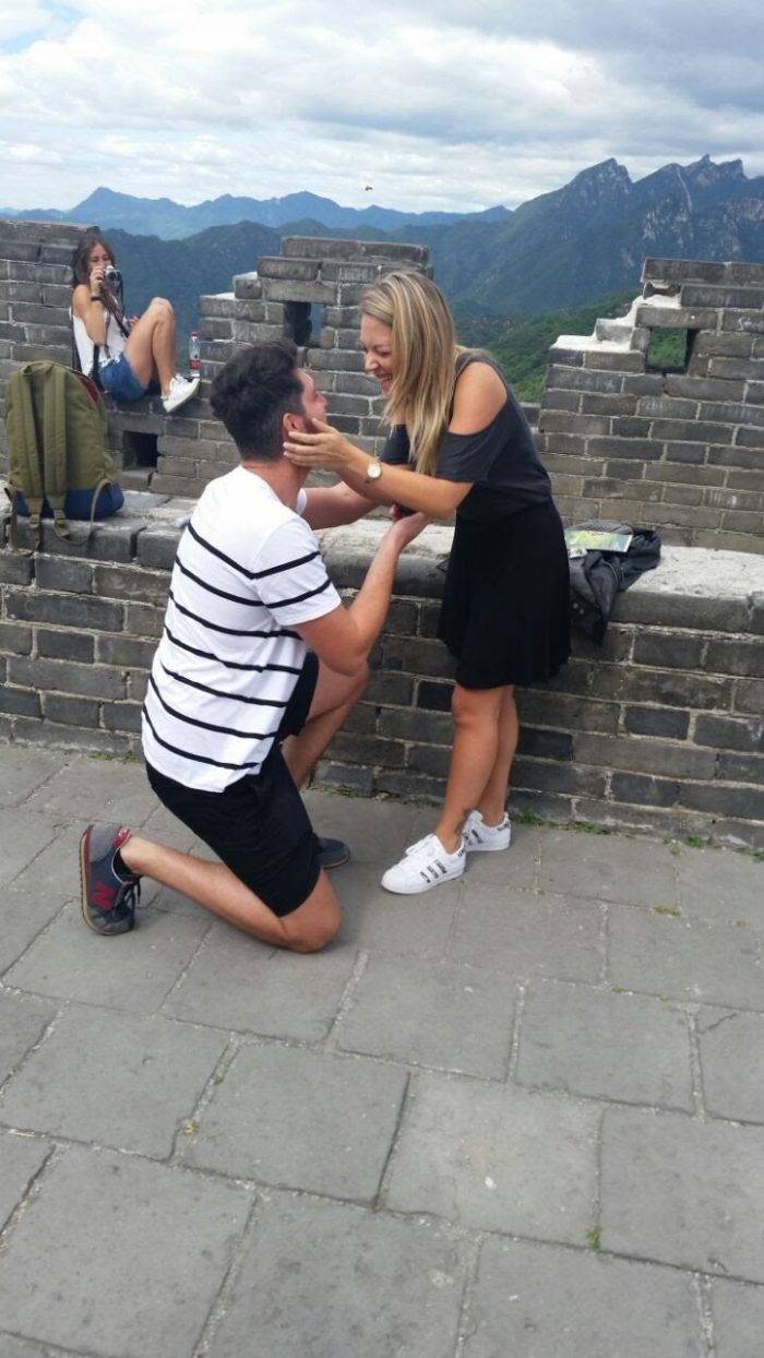 Engagement Proposal Ideas in Great wall of China
