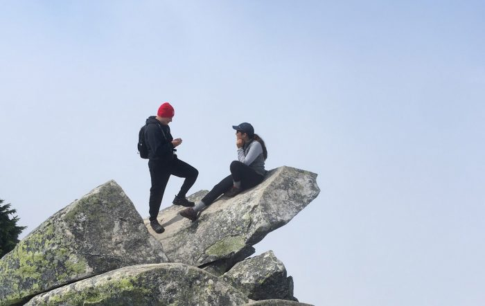Marriage Proposal Ideas in On top Mt pilchuck