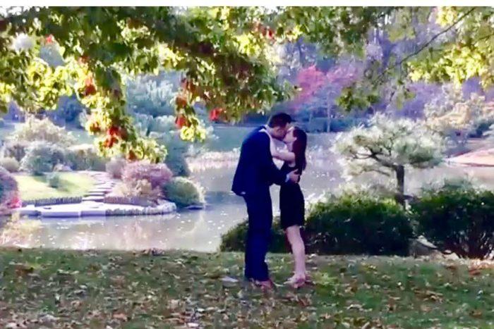 Wedding Proposal Ideas in Missouri Botanical Garden