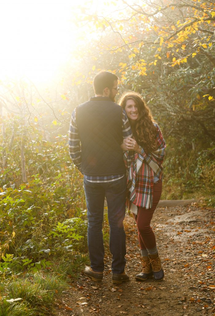 Melea and Anthony's Engagement in Craggy Gardens Pinnacle Trail
