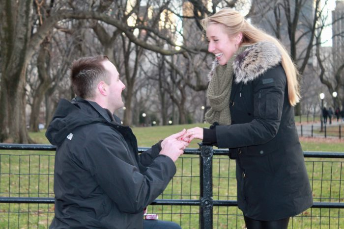 Wedding Proposal Ideas in Central Park, NYC