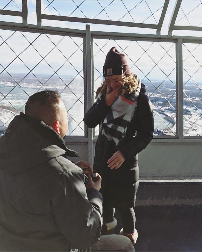 Monica and Leonides Adoptante's Engagement in Niagara Falls, Canada