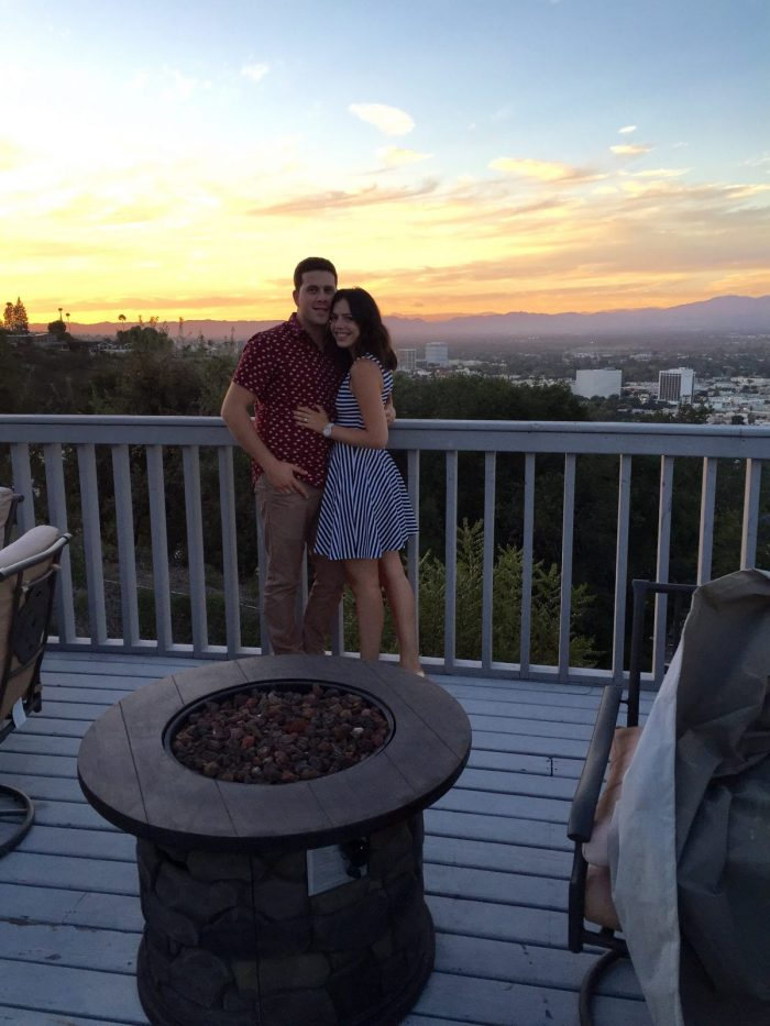 Eden and Matan's Engagement in Lakeside Cafe Encino, CA
