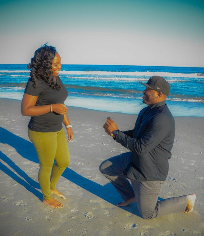 Aquira and Brian's Engagement in Wrightsville Beach, NC
