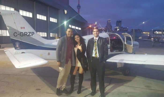 Kimberley's Proposal in Billy Bishop Airport Toronto
