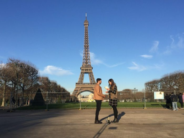 Georgina and James's Engagement in Paris, under the Eiffel Tower